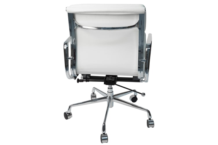 Replica Eames Low Back Soft Pad Management Desk / Office Chair   White