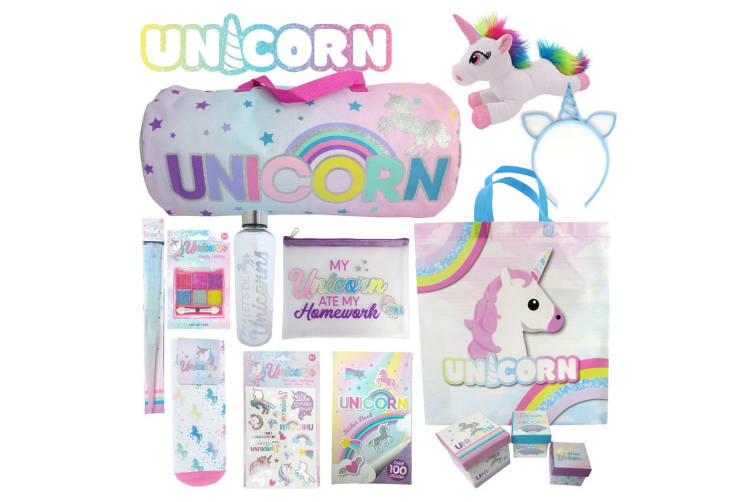 LOL Surprise! & Unicorn Kids Girls Show Bags Bottle/Stickers/Skirt/Stamp 3y+