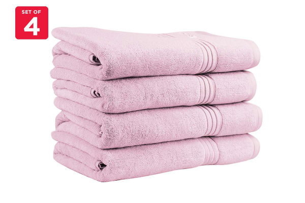 Onkaparinga Ethan 600GSM Bath Towel Set of 4 (Rose)