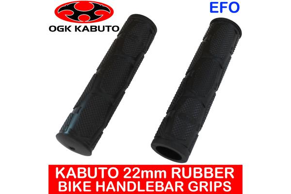 Kabuto 22Mm Rubber Handlebar Grips Mountain Bike Large Black Pair Ag-051K