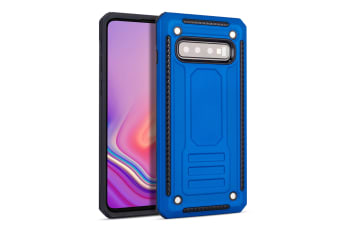 For Samsung Galaxy S10 Case  Armour Strong Shockproof Thin Tough Cover  Blue