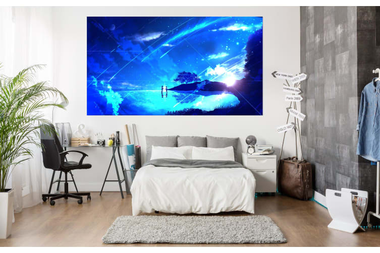 3D Your Name 20 Anime Wall Stickers Self-adhesive Vinyl, 180cm x 100cm(70.8'' x 39.3'') (WxH)