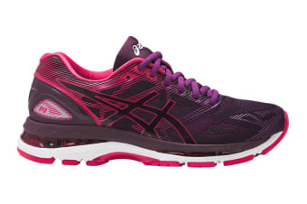 ASICS Women's Gel-Nimbus 19 Running Shoe (Black/Cosmo Pink/Winter Bloom, Size 6)