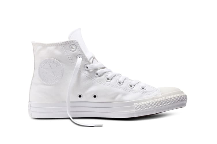 Converse Chuck Taylor All Star Hi (White Mono, US Mens 6.5 / US Womens 8.5)