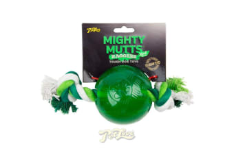 Interpet Mighty Mutts Mint Ball And Rope Toy (Green) (Large)