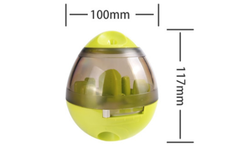 Pet Increase IQ Slow Feeder Interactive Treat Dispensing Ball,Tumbler Design Training Puzzle Shaking Toys for Dogs & Cats-PINK