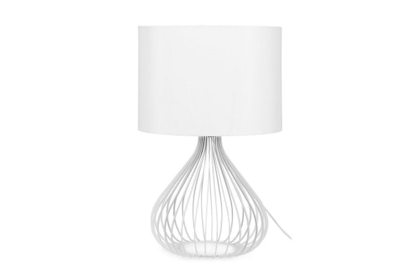 Ovela Wire Frame Table Lamp (White)