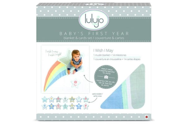 Lulujo I wish I May Baby's First Year Blanket and Cards Set