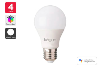 4 Pack Kogan SmarterHome™ 10W White Smart Bulb (E27)