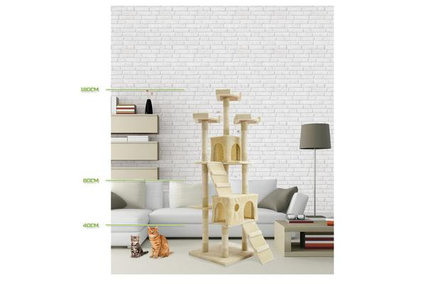 Cat Tree Scratcher JUMBO 180cm - BEIGE