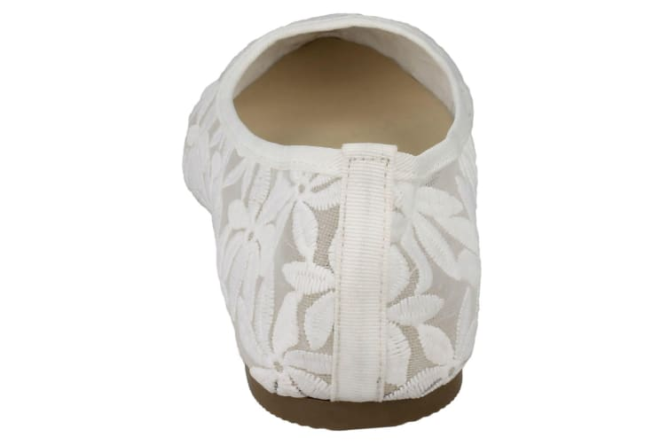 Spot On Womens/Ladies Flowery Ballerinas (White) (7 UK)