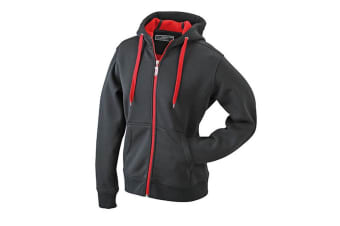 James and Nicholson Mens Doubleface Jacket (Black/Red) (M)