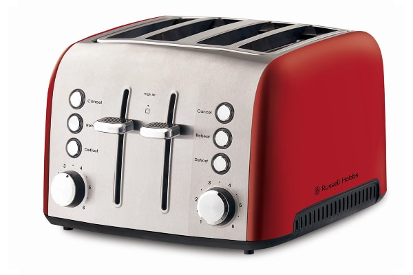 Russell Hobbs Heritage Vogue 4 Slice Toaster - Red (RHT54RED)