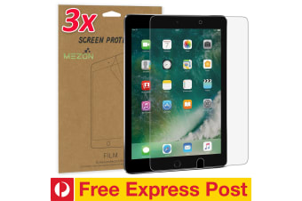 "[3 Pack] Apple iPad Air 10.5"" 2019 Ultra Clear Film Screen Protector by MEZON – Face ID Compatible, Case and Pencil Friendly (iPad Air 10.5"", Clear) – FREE EXPRESS"