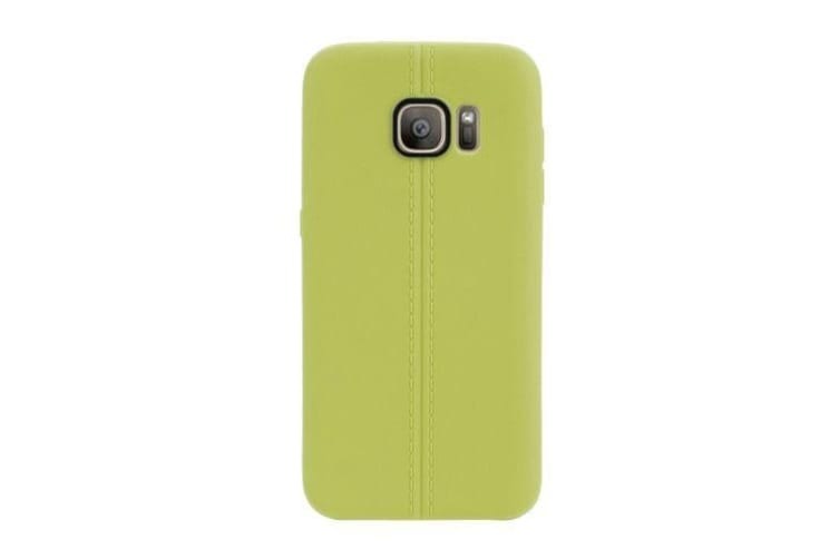 For Samsung Galaxy S7 Case Modern Stitches Durable Grippy Shielding Cover Green