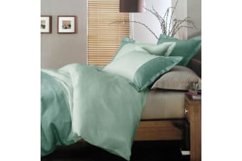 Macau Teal Quilt Cover Set Queen by Deco