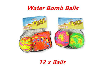 12 x Water Bomb Splash Ball Soft Throw Swimming Pool Game Event Party Outdoor Sport