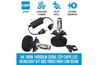 Cosmoblaze H4 180W 18000LM Seoul CSP Chips LED Headlight Kit WITH 2x CANBUS