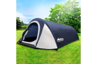 Family Camping Tent 2 - 4 Person Hiking Beach Tents Canvas Swag
