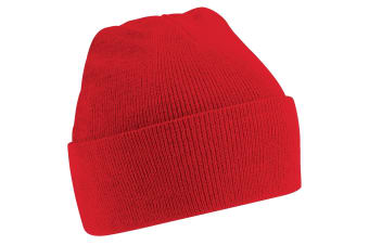 Beechfield Soft Feel Knitted Winter Hat (Classic Red) (One Size)