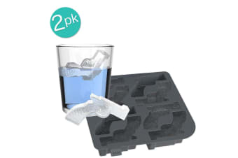 True Licence to Chill Ice 16 Gun Shape Cube Tray Maker Mould Silicone Tool Black