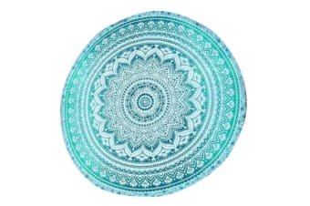 TODO Luxury Edition Chiffon Digital Print Beach Throw Yoga Towel Mat Green