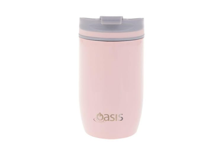 Oasis Stainless Steel Double Wall Insulated Travel Cup 300ml Soft Pink