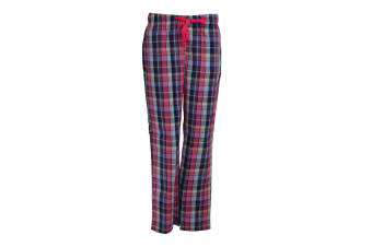 Tom Franks Womens/Ladies Check Lounge Trousers (Navy/Pink Check)