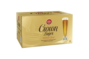 Crown Lager Beer 24 x 375mL Bottles (Free Shipping)