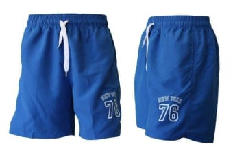 Men's Casual Training Running Jogging Gym Sport Shorts  York 76 (B) -Blue [Size:30]