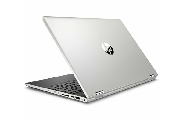 """HP Pavilion x360 15.6"""" Convertible 2-in-1 Touch Screen Laptop (i7-8550U, 8GB RAM, 256GB SSD, Silver) - Certified Refurbished"""
