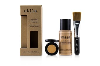 Stila Stay All Day Foundation, Concealer & Brush Kit - # 3 Light 2pcs