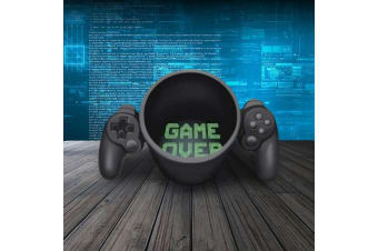 Game Over Gaming Coffee Mug Cup | Controller Video Gamer Games Tea