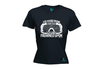 Open Water Scuba Diving Tee - I Go Because Punching - (Large Black Womens T Shirt)