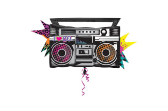 Amscan Totally 80s Boombox Supershape Balloon (Multicoloured) (One Size)