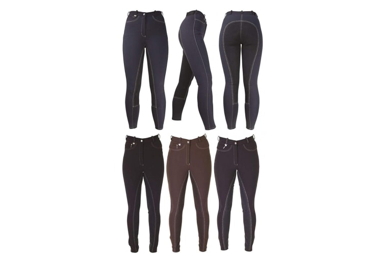 HyPERFORMANCE Style Ladies Breeches (Black) (30in)