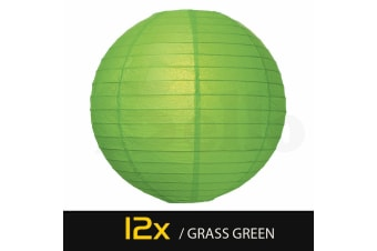 "12"" Paper Lanterns for Wedding Party Festival Decoration - Mix and Match Colours Grass Green"