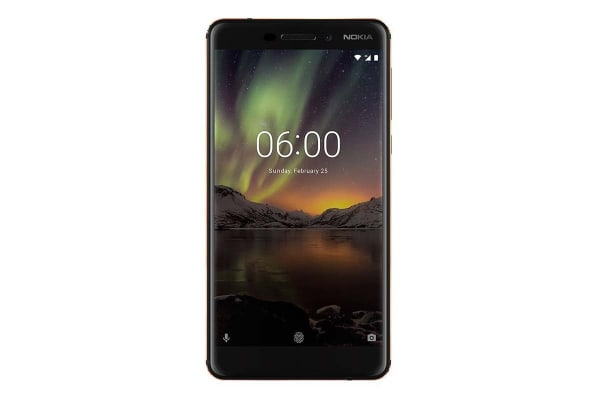 Nokia 6.1 (64GB, Black/Copper)