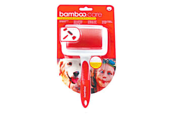 Munchkin Bamboo 3-In-1 Wire Brush & Comb Dog Grooming Tool (Red) (One Size)