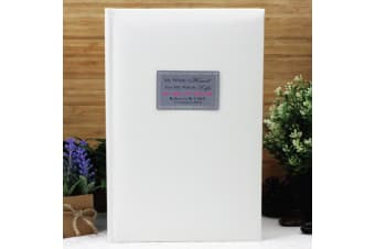 Engagement Personalised Photo Album 300 Photo White