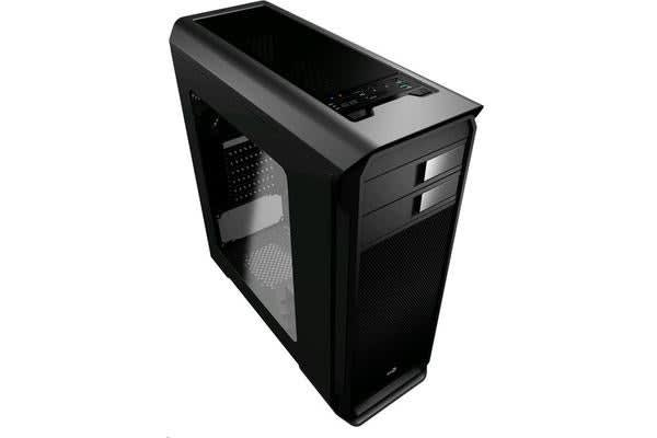 Aerocool Aero 500 Black MIDI Tower Case with Window - 1xUSB 3.0 2xUSB 2.0 - HD Audio - 1x 120mm