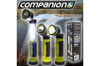 COMPANION 3 IN 1 LED TORCH & WORKLIGHT WORK LIGHT LAMP FLASHLIGHT NEW COMP0878