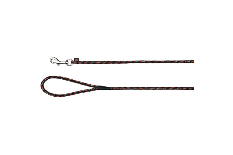 Trixie Mountain Rope Tracking Leash (Black/Orange) (5 m)