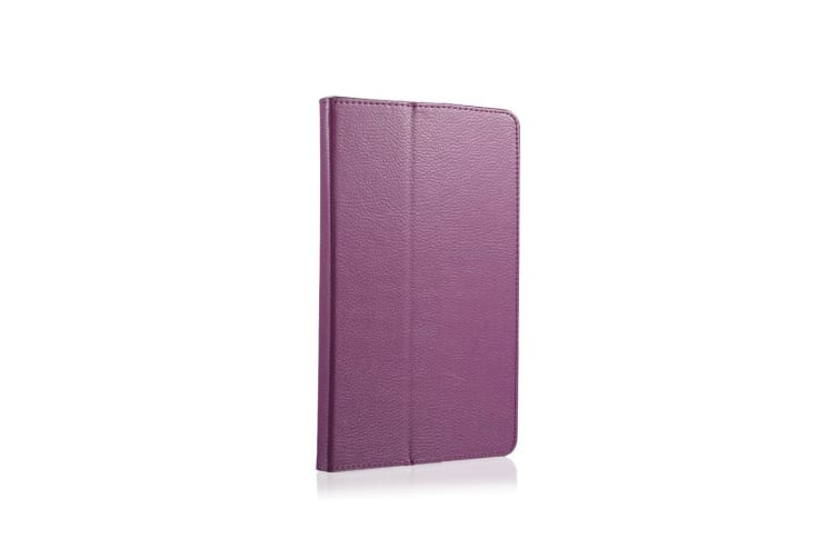 For Samsung Galaxy Tab A 8 0 SM-T380 T385 Case Lychee Leather Cover Purple