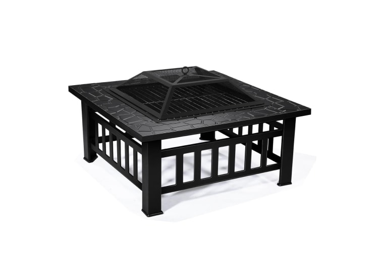 Outdoor 32-Inch Outdoor BBQ Grill Fire Pit Patio Garden Camping Heater