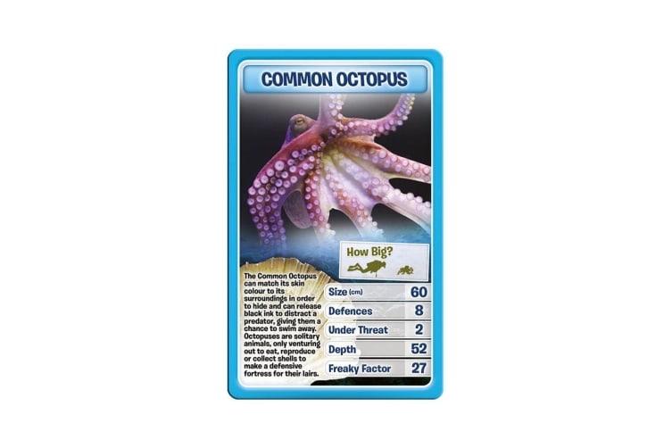 Top Trumps Creatures of the Deeps Educational Card Game 6y+ Family/Kids/Adult To