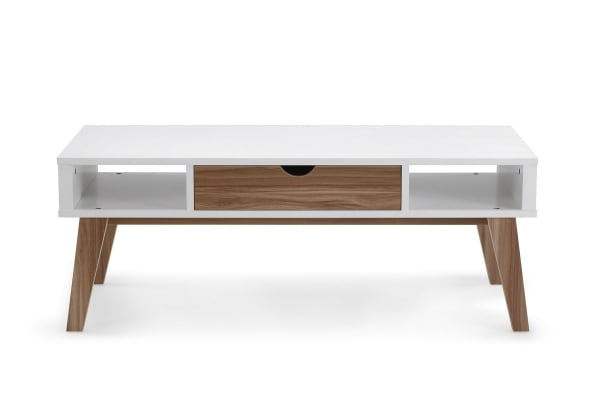 Ovela Coffee Table - Finse Collection (White & Dark Birch)