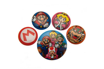 Super Mario Button Badge Set (Multi-colour)
