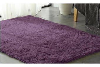 New Designer Shaggy Floor Confetti Rug PURPLE 120x160cm
