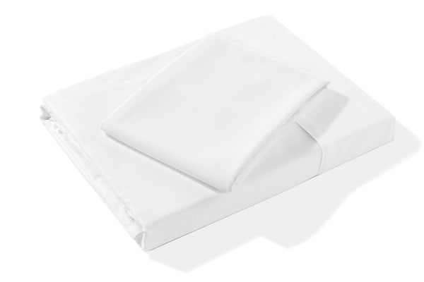 Bubbli 400TC 100% Pure Bamboo Bed Sheet Set (Baby, White)